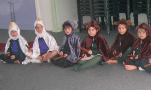students roleplaying